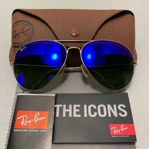 Ray-Ban Aviator Sunglasses RB3026 62-14mm 112/17